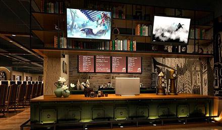 网咖吧台背景墙怎么设计好